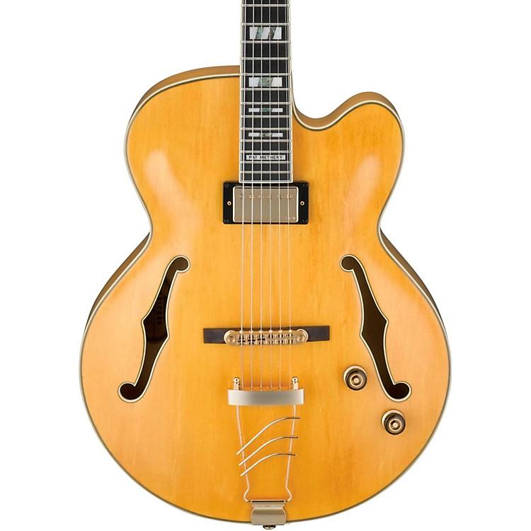 IbanezPM2 Pat Metheny Signature Hollowbody Electric Guitar - Antique AmberAged Amber