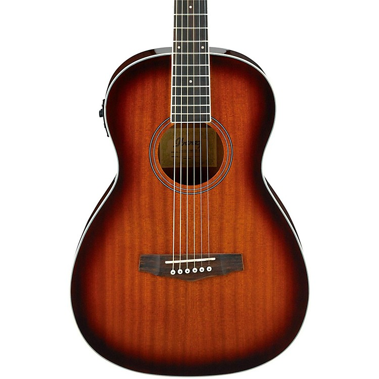 IbanezPN12E Mahogany Parlor Acoustic-Electric GuitarVintage Mahogany Sunburst