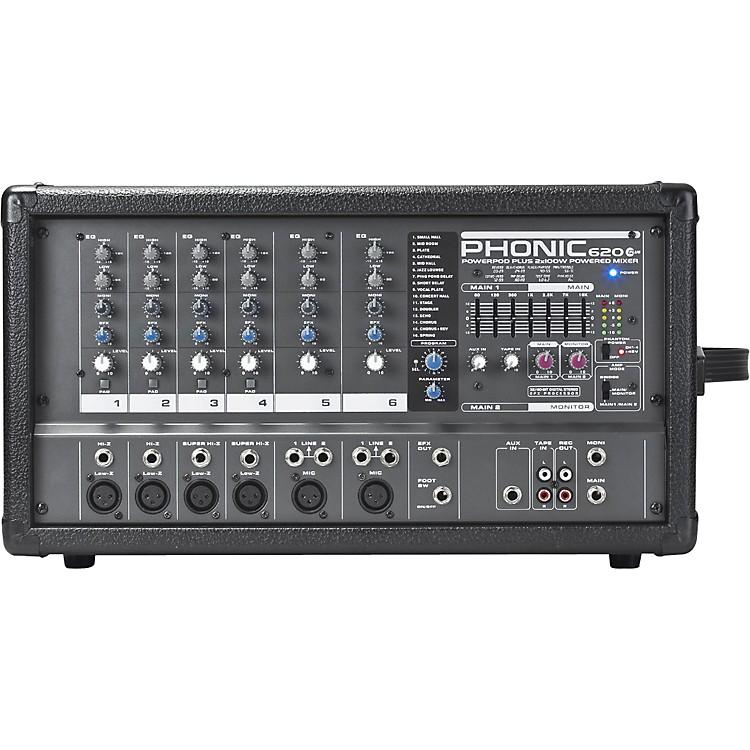 PhonicPOWERPOD 620 PLUS 200-Watt 6-Channel Powered Mixer with DFX