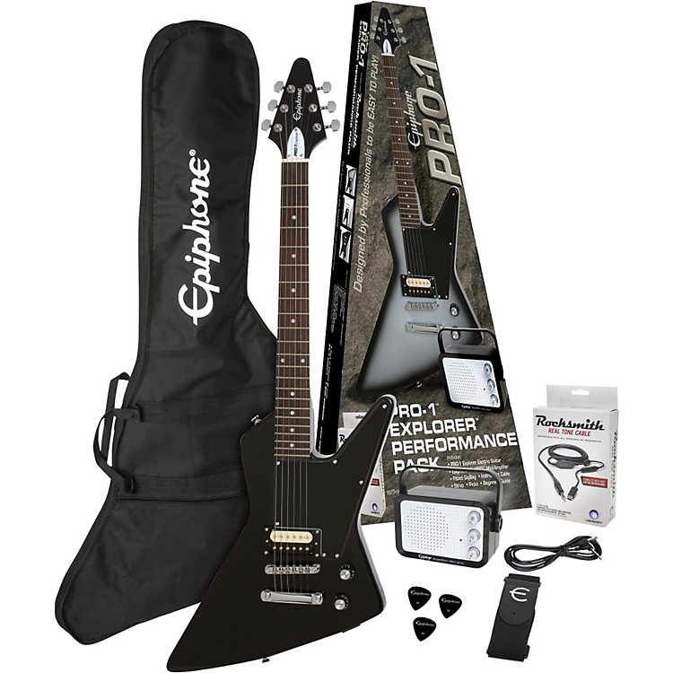 Epiphone PRO-1 Explorer Electric Guitar Pack Ebony
