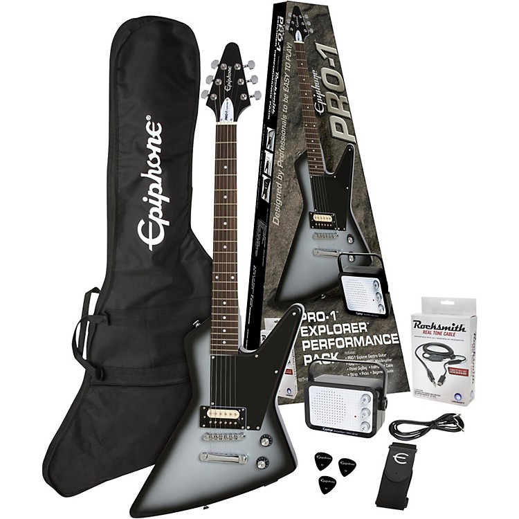 Epiphone PRO-1 Explorer Electric Guitar Pack Silver Burst