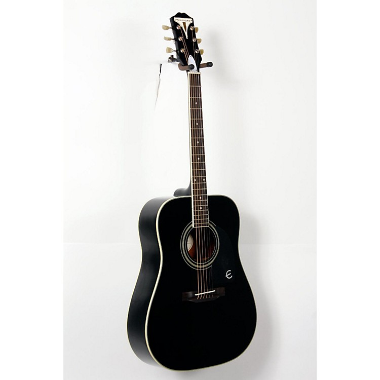 Epiphone PRO-1 PLUS Acoustic Guitar Ebony 888365735122