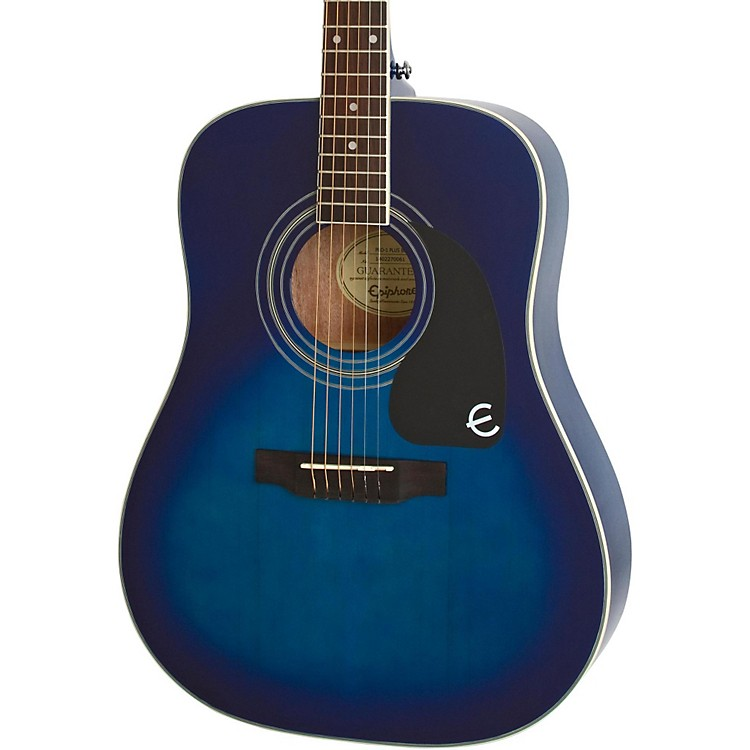 Epiphone PRO-1 PLUS Acoustic Guitar Transparent Blue