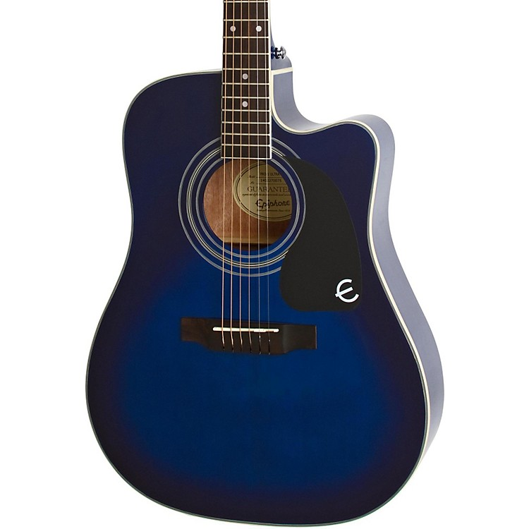 Epiphone PRO-1 ULTRA Acoustic-Electric Guitar Transparent Blue
