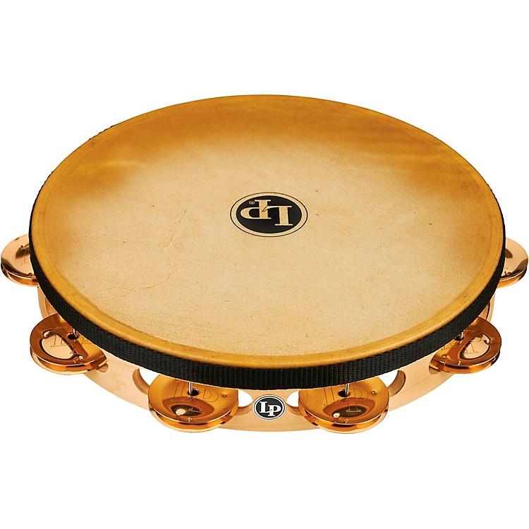 LPPRO Single Row Headed Tambourine10 in.Brass