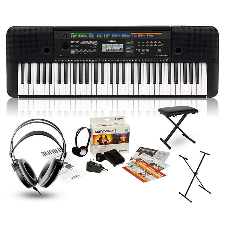 yamaha psr e253 portable keyboard package music123. Black Bedroom Furniture Sets. Home Design Ideas