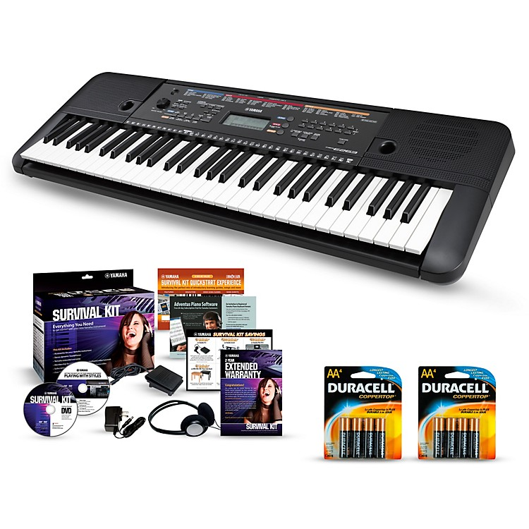 YamahaPSR-E263 61-Key Portable Keyboard PackagesEssentials Package