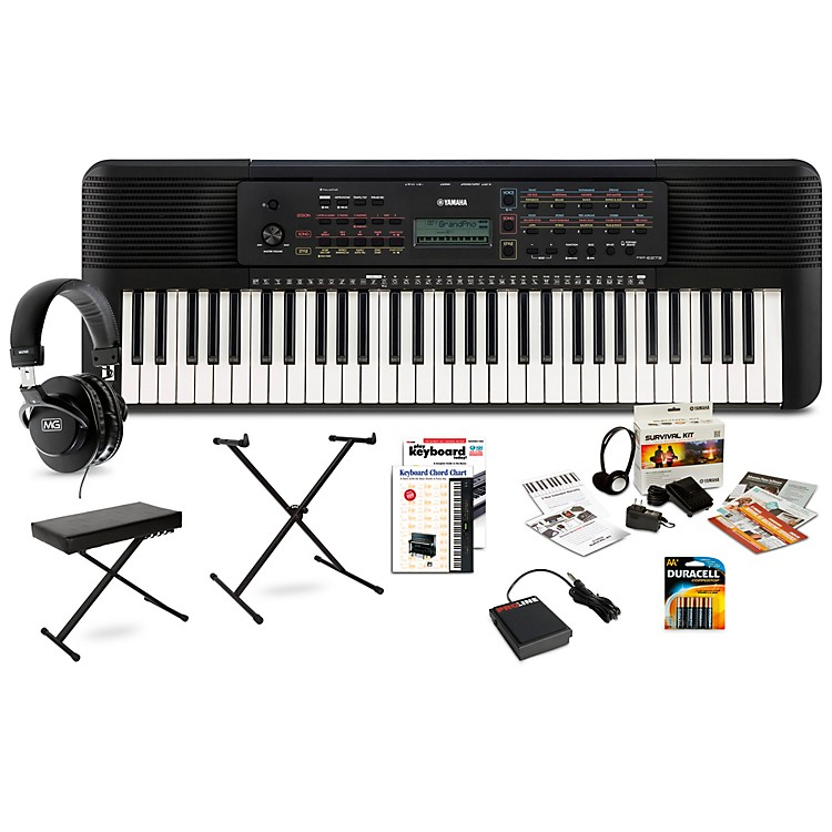 YamahaPSR-E273 61-Key Portable Keyboard PackageDeluxe Package