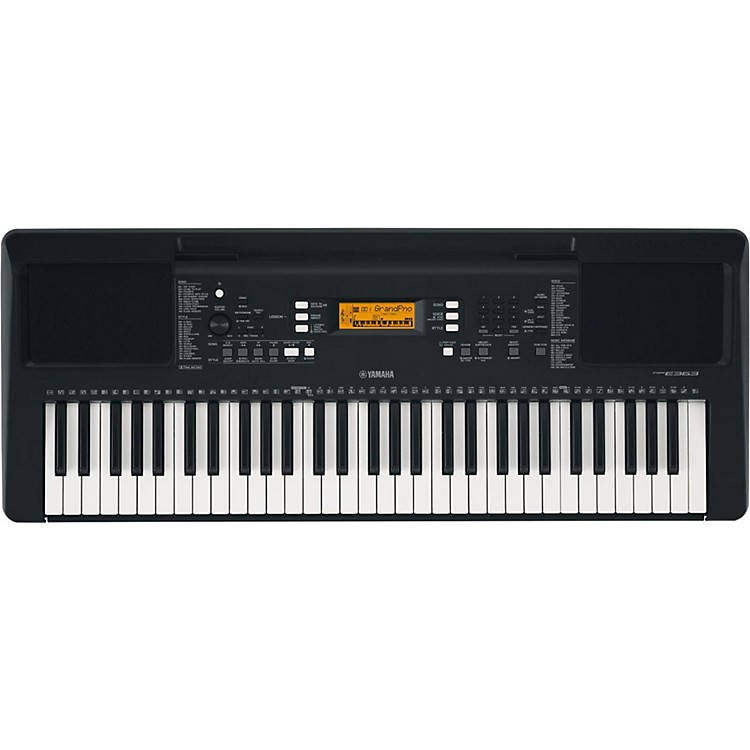 yamaha psr e363 61 key portable keyboard black music123. Black Bedroom Furniture Sets. Home Design Ideas