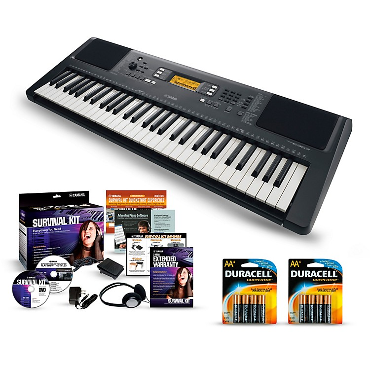 Yamaha PSR-E363 61-Key Portable Keyboard Packages  Essentials Package