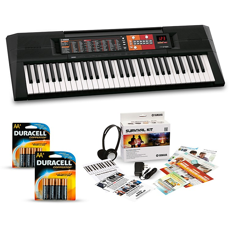 yamaha psr f51 61 key portable keyboard package music123. Black Bedroom Furniture Sets. Home Design Ideas