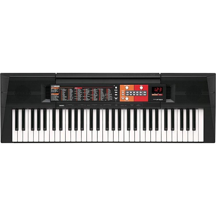 Yamaha psr f51 61 key portable keyboard music123 for Yamaha piano keyboard 61 key psr 180