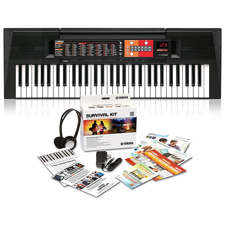 YamahaPSR-F51HS 61-Key Portable Keyboard with Power Supply, Headphones and More