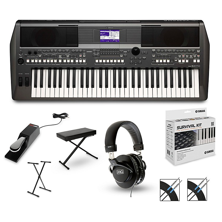 Yamaha PSR-S670 Arranger Keyboard Package