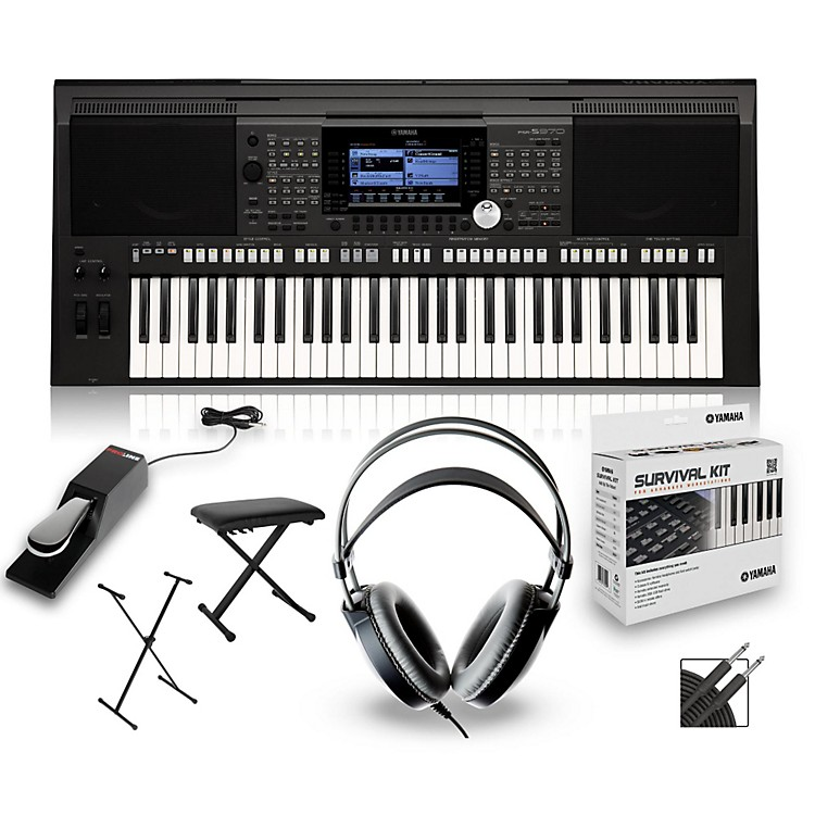 YamahaPSRS970 with Headphones, Bench, Stand and Sustain Pedal