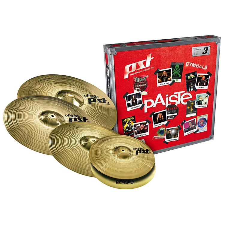 Paiste PST 3 Limited Edition Universal Cymbal Set with Free 18