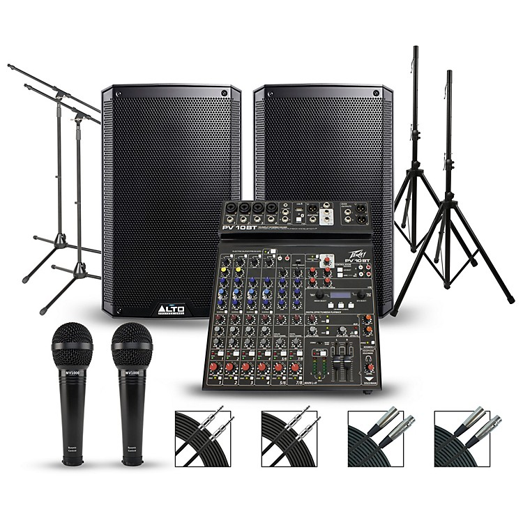 PeaveyPV10BT Mixer with Alto TS2 PA Package