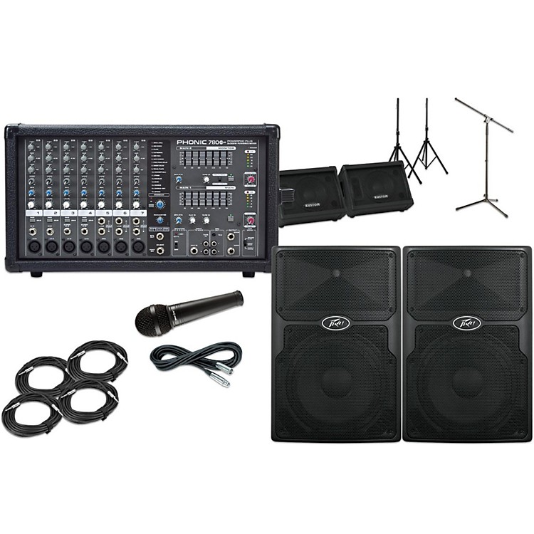 PeaveyPVX12  with Phonic Powerpod 780 Mains and Monitors Package