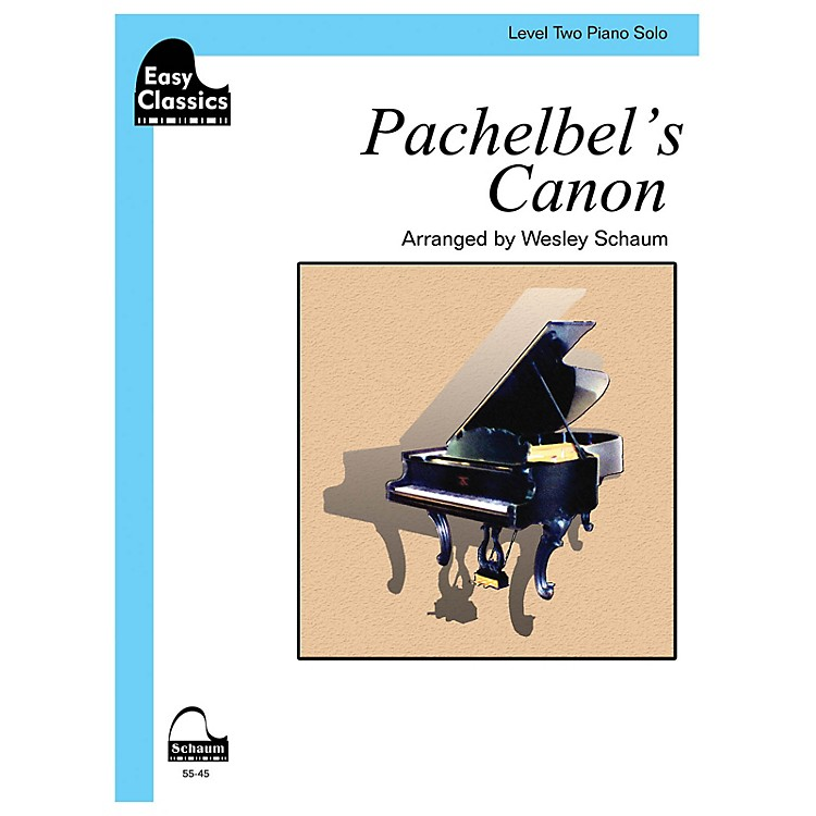 SCHAUMPachelbel's Canon Educational Piano Book by Johann Pachelbel (Level 2)