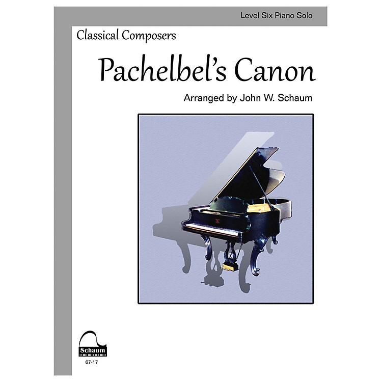 SCHAUMPachelbel's Canon (Schaum Level Six Piano Solo) Educational Piano Book by Johann Pachelbel