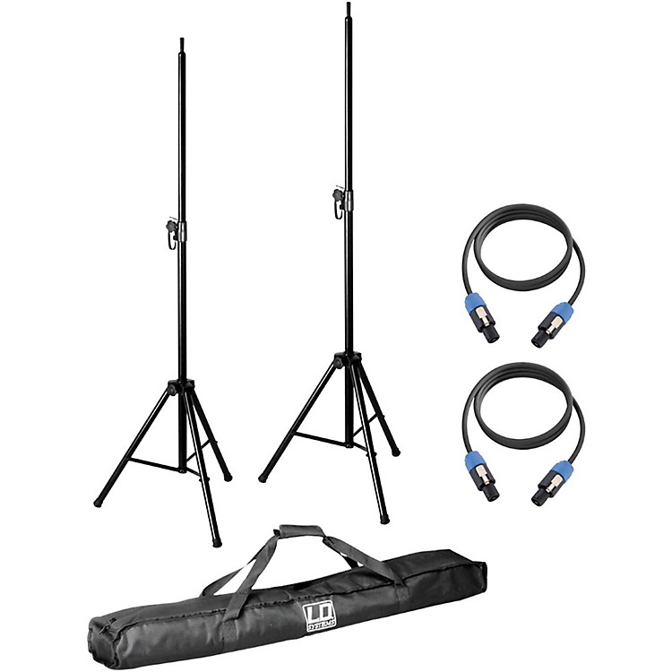 LD SystemsPair of Speaker Stands with Carry Bag and 2 Speakon Cables for Dave 8 System