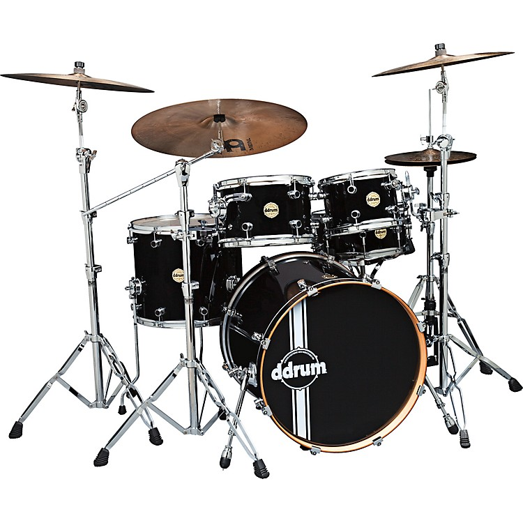 Ddrum Paladin Maple 5-Piece Shell Pack Piano Black