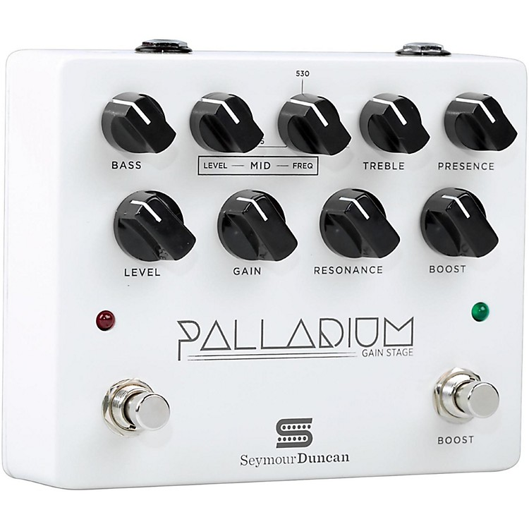 Seymour Duncan Palladium Gain Stage Distortion Guitar Effects  Pedal (White)  888365841151