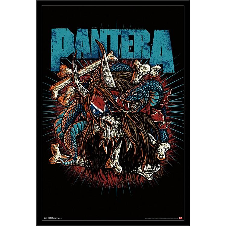 Trends InternationalPantera - Rocker Skull PosterFramedBlack