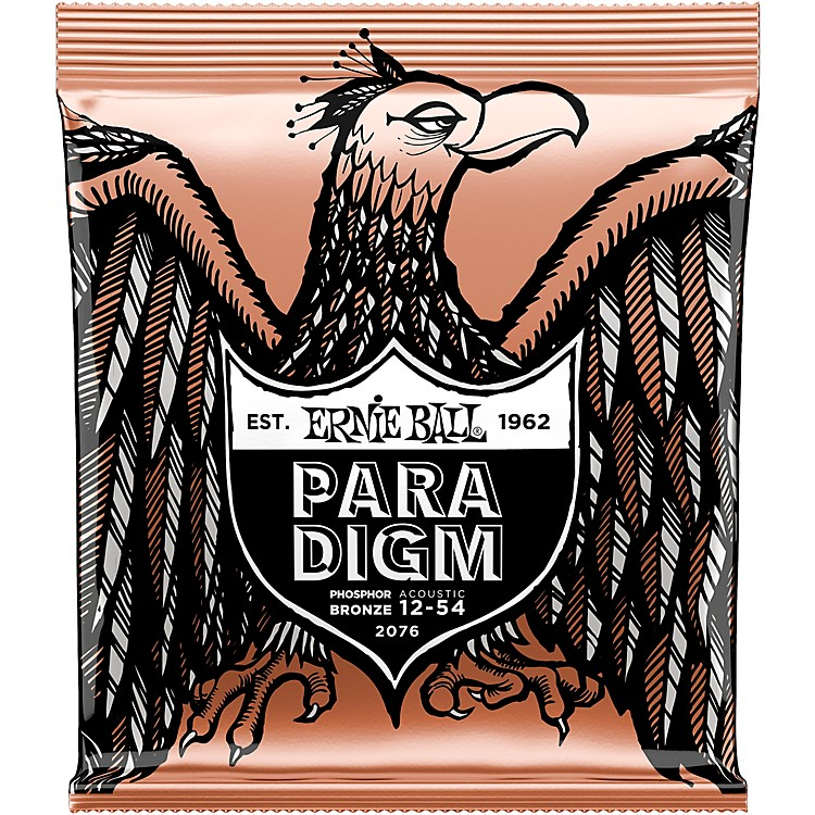 Ernie Ball Paradigm Phosphor Bronze Acoustic Guitar Strings Medium Light