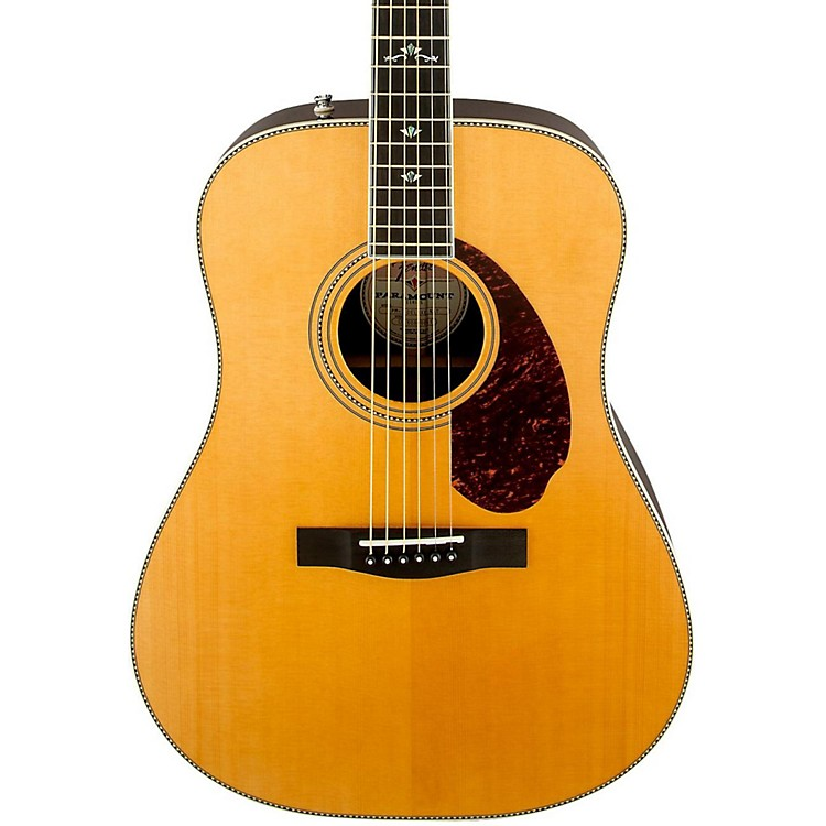FenderParamount Series PM-1 Deluxe Dreadnought Acoustic-Electric GuitarNatural