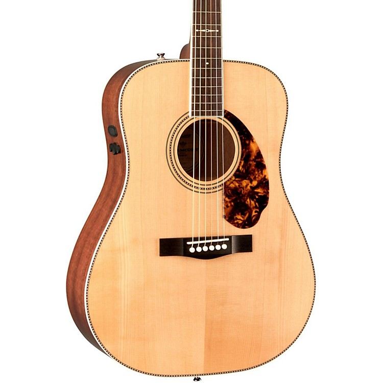 Fender Paramount Series PM-1 Limited Adirondack Dreadnought, Mahogany Acoustic-Electric Guitar Natural