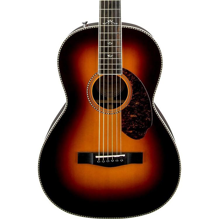 Fender Paramount Series PM-2 Deluxe Parlor Acoustic-Electric Guitar Vintage Sunburst