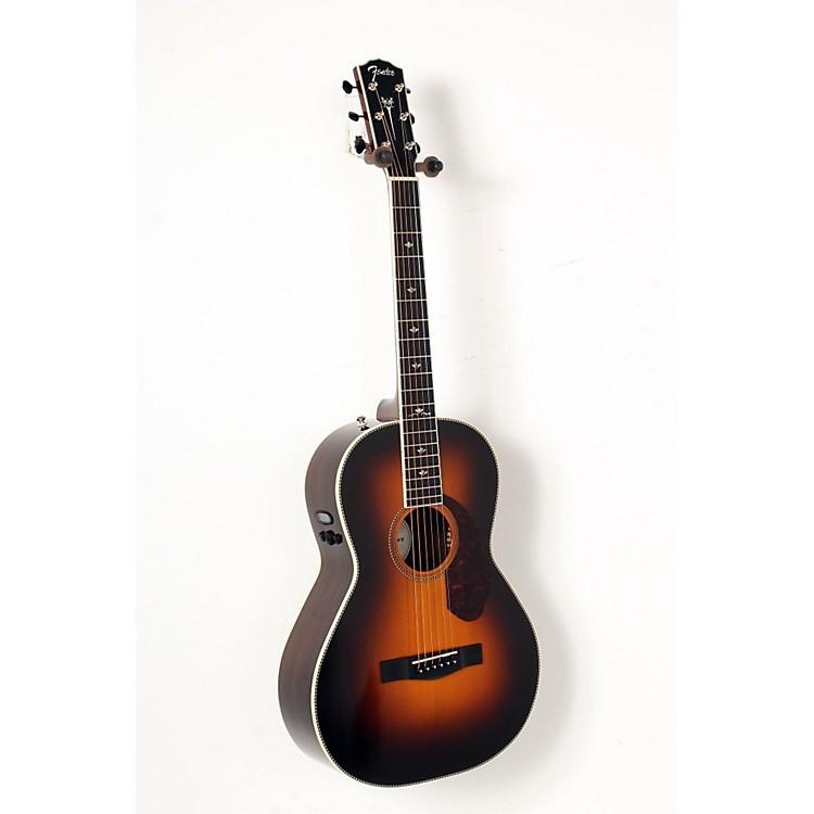 FenderParamount Series PM-2 Deluxe Parlor Acoustic-Electric GuitarVintage Sunburst888365853475