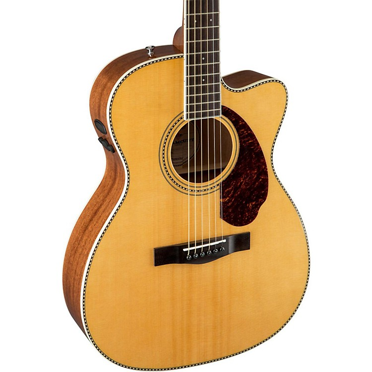 Fender Paramount Series PM-3 Cutaway Triple-0 Acoustic-Electric Guitar Natural