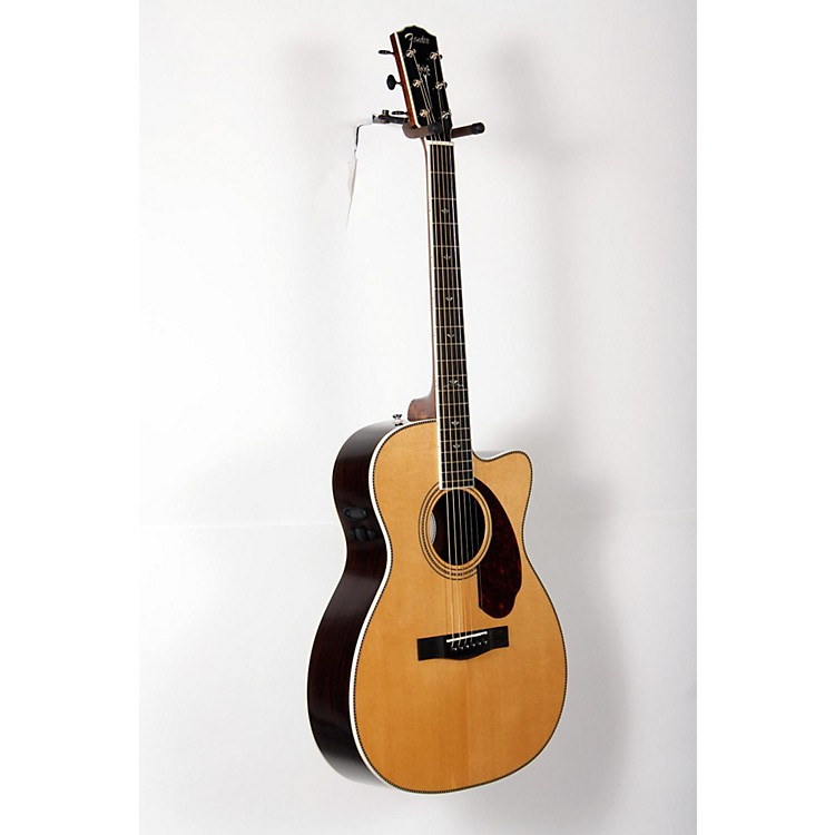 Fender Paramount Series PM-3 Deluxe Cutaway Triple-0 Acoustic-Electric Guitar Natural 888365854526
