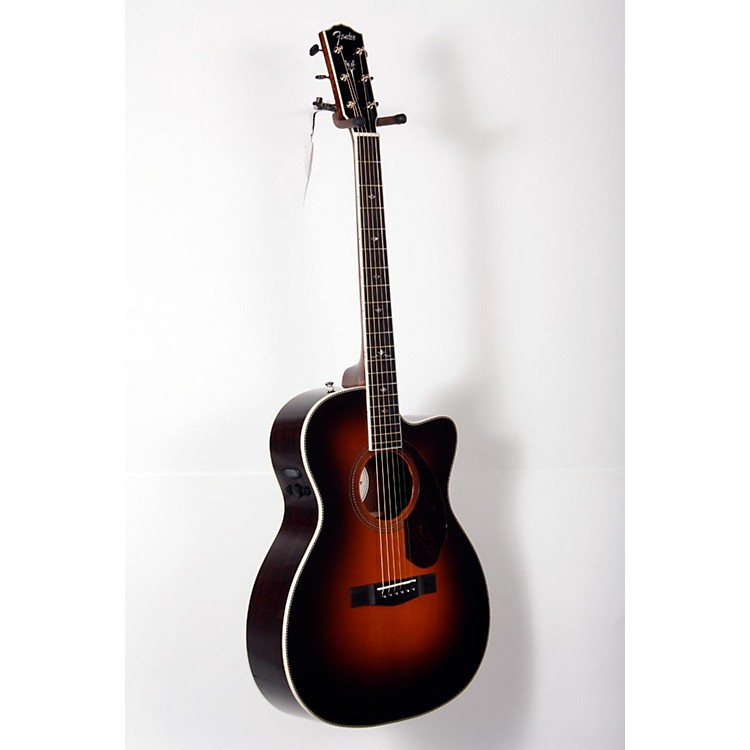 Fender Paramount Series PM-3 Deluxe Cutaway Triple-0 Acoustic-Electric Guitar Vintage Sunburst 888365826882
