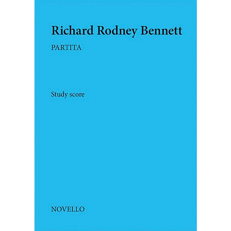 NovelloPartita Music Sales America Series Softcover Composed by Richard Rodney Bennett