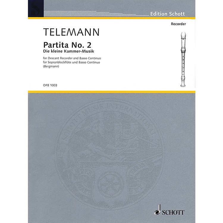 SchottPartita No. 2 in G Major (Der Kleine Cammer-Musik) Schott Series