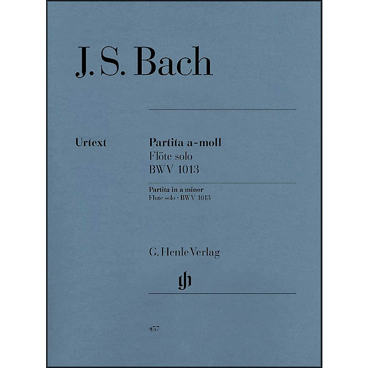 G. Henle Verlag Partita for Flute Solo In A Minor, BWV 1013 By Bach