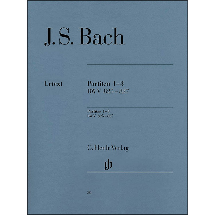 G. Henle VerlagPartitas 1-3 BWV 825 - 827 By Bach