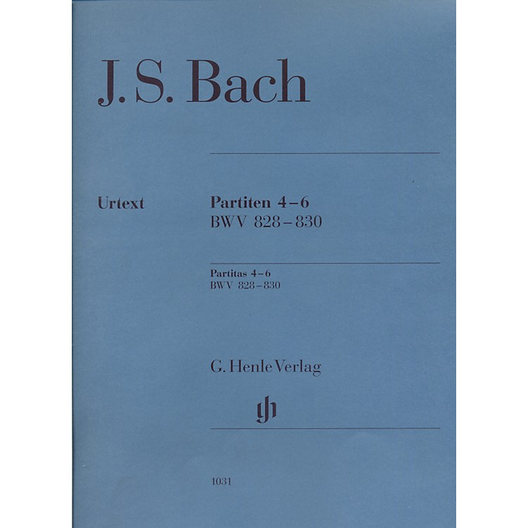 G. Henle VerlagPartitas 4-6 BWV 828-830 By Bach