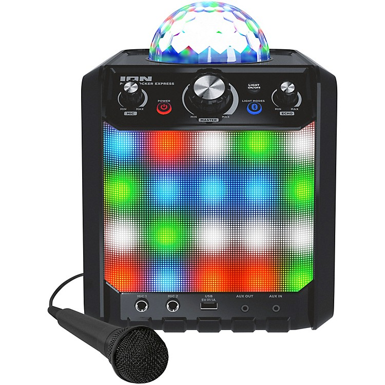 IONParty Rocker Express Bluetooth Speaker with Light Show and Microphone