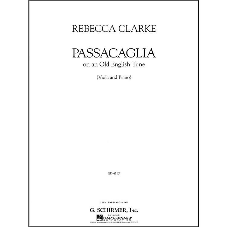 G. SchirmerPassacaglia Va/Pno Of An Old English Tune Viola And Piano By Clarke