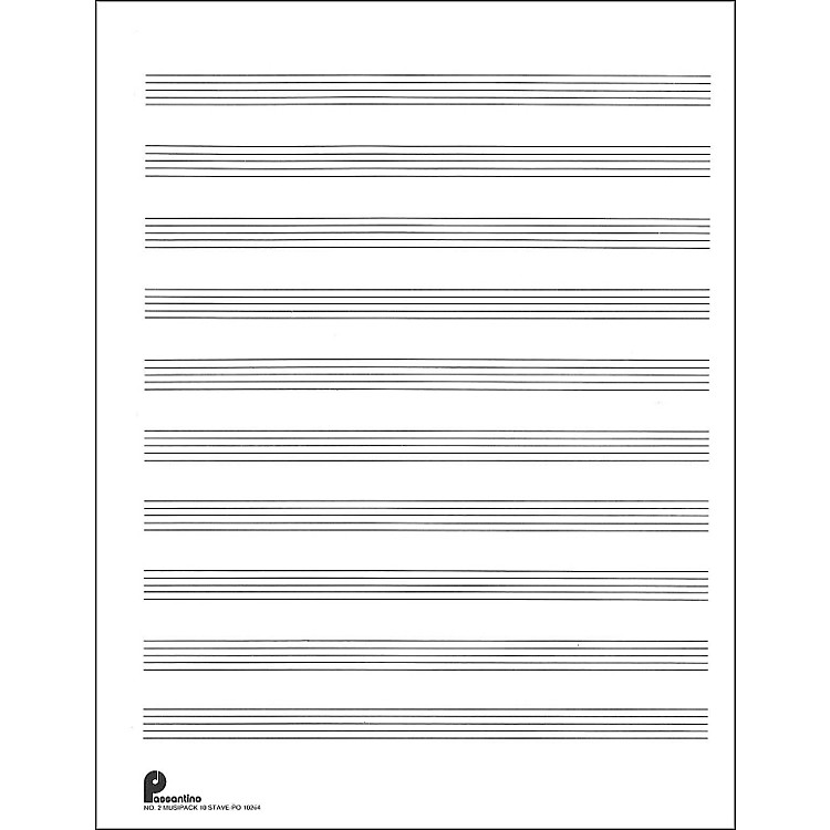 Music SalesPassantino Music Paper Filler No.2 96 Pages, 8.5X11, 3 Ring