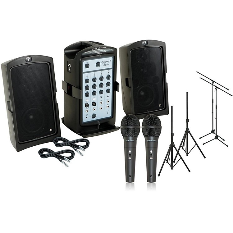 Fender Passport 150 Pro PA Package with 2 Mics