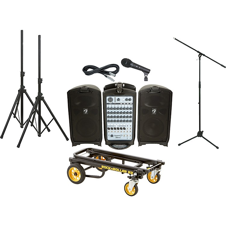 Fender Passport 500 Pro PA Package with Rock N Roller Cart