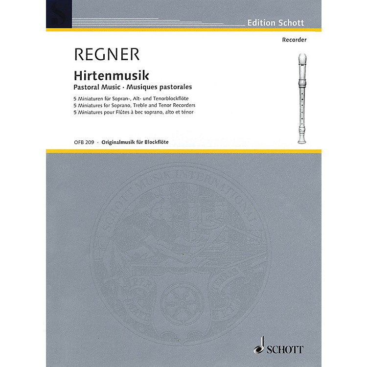 SchottPastoral Music (5 Miniatures) Woodwind Ensemble Series by Hermann Regner
