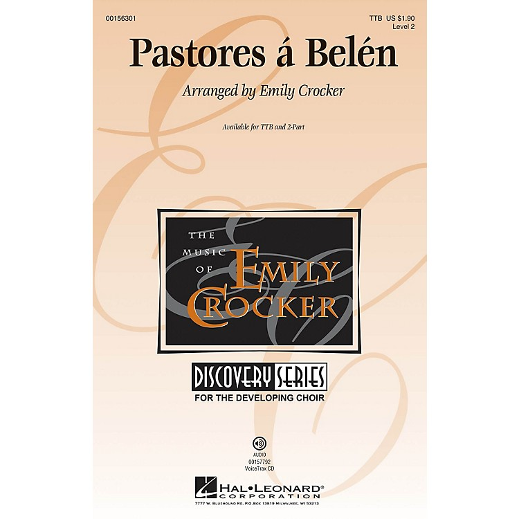 Hal LeonardPastores á Belén (Discovery Level 2) VoiceTrax CD Arranged by Emily Crocker