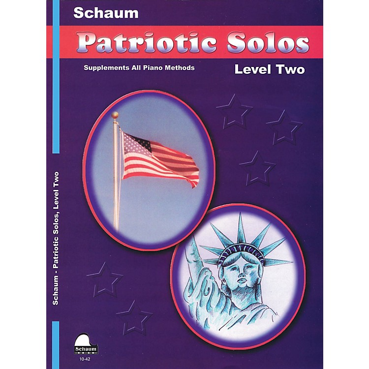SCHAUMPatriotic Solos (Level 2 Upper Elem) Educational Piano Book