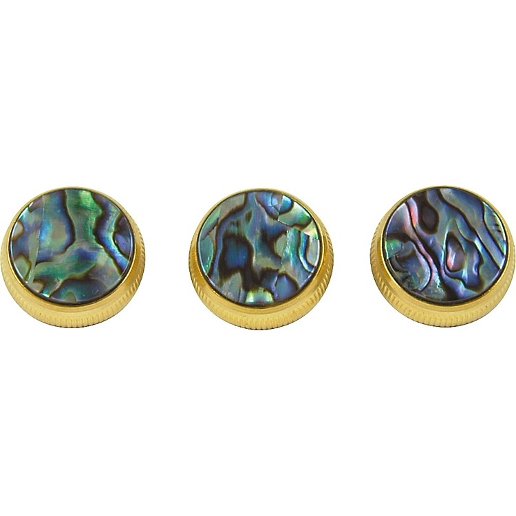 BachPaua Abalone Trumpet Finger Buttons 3-PackGold